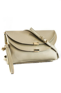 Solid Double Flap Over Clutch With Strap