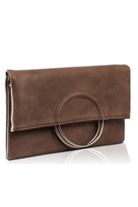 Solid Flap Over Metal Handle Clutch