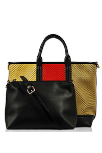 Two In One Multi Color Laser Cut Tote Bag And Messenger