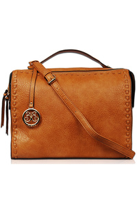Solid Stitched Doctor Bag With Shoulder Strap
