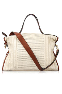 Solid Top Handle Textured Tote Bag With Shoulder Strap