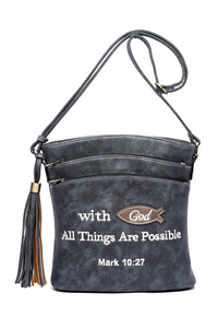 Bible Verse With All Things Are Possible Messenger Bag With Gun Pocket