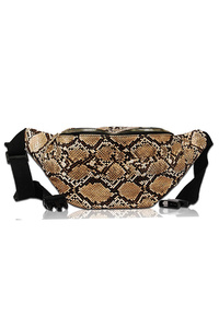 Animal Print Front Pocket Fanny Pack