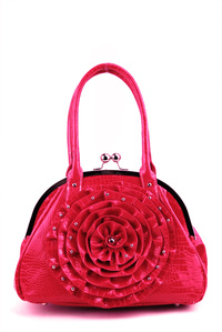 Small Studded Flower Handbag