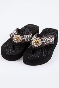 Restocked Western Sunflower Flip Flop