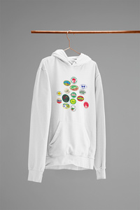 Premium Pullover Fruit Sticker Printed Hoodies (5108)