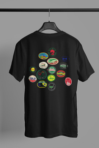 Fruit Sticker printed unisex jersey short sleeve tee
