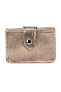 Solid Multiple Compartment Wallet With Flap Over Clip One Wallet
