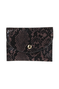 Snake Print Envelope Card Case