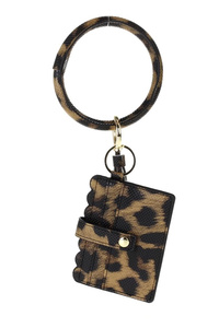 Solid Id and Card Holder With Tassel And Ring Holder
