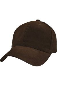 Brushed Six Panel Structured Cap With Velcro Back Strap