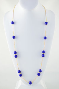 Layered Long Bead Deco Necklace and Earring Set Pre-pack 3 Pcs