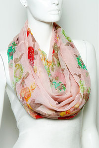 Fashion Trend Scarf Flower Design Pre-Pack 6 pcs Even Color