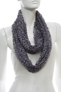 Polyester Mesh Infinity Scarf