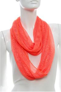 Glittered Mesh Solid Scarf
