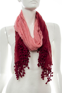 Two Tone Accented Scarf Pre-Pack 6 pcs Even Color