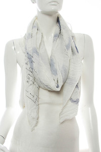 Letter Print Accented Scarf Pre-Pack 6 pcs Even Color