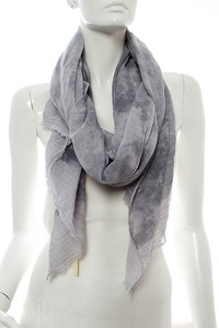 Tie Dye Print Accented Scarf Pre-Pack 6 pcs Even Color