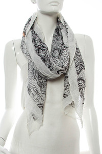 Symbolic Print Accented Scarf Pre-Pack 6 pcs Even Color