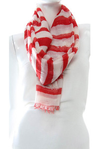 Stripe Two Tone Accented Scarf Pre-Pack 6 pcs Even Color