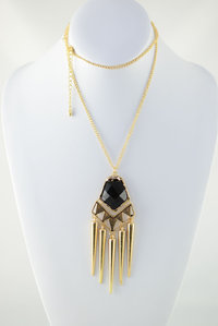 Stone Spike Chain Deco Necklace Pre-pack 3 Pcs
