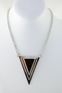 Triangle Deco Short Necklace and Earring Set Pre-pack 3 Pcs