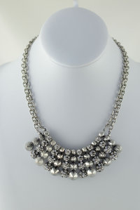 Beautiful Bohemian with Rhinestones Deco Necklace and  Earring Set