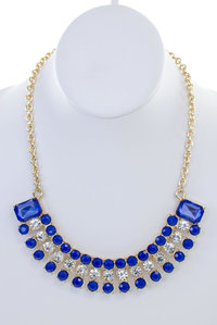 Big Rhinestones Choker Necklace Set