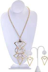 Geo Long Necklace Set