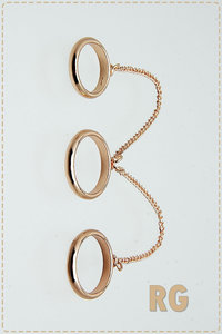 Three Plain Ring Chained Together