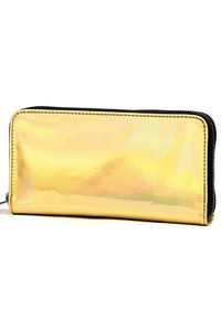 Hologram And Multiple Color Zipper Around Wallet