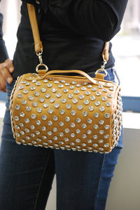 Premium BIG Rhinestone Deco with Shoulder Strap Mini Bag