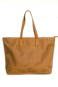 All Over Geometric Laser Cut Deco Tote Bag