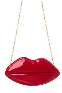 ReStocked Plain Solid Chain Strap Cross Body Lip Clutch Bag
