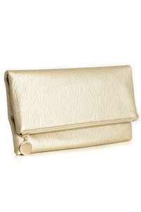Restocked Solid Flap Over Messenger Clutch With Chain Strap