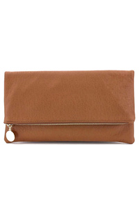 Solid Flap Over Messenger Clutch With Chain Strap