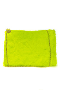 Colorful And Soft Synthetic Fur Winter Clutch Bag