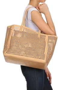 Laser Cut Two In One Tote Bag