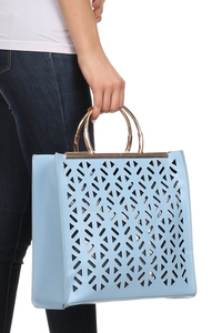 Laser Cut Two In One Structure Tote Shoulder Bag