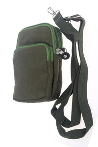 Solid Nylon Crossbody Messenger Bag