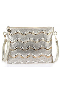 Front All Over Rhinestones Wrist Strap And Strap Clutch