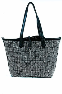 Studs And Weaved All Over Two In One Tote Bag