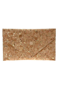 Envelope Cork Clutch With Chain Strap