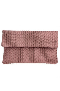 Solid Braided Flap Over Magnetic Clutch With Strap