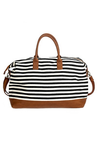 Stripe Canvas Duffle Bag