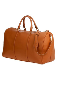 Restocked Solid Large Duffle Or Overnighter Bag In Vegan Leather