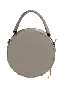 Solid Round Shape With Single Handle And Shoulder Strap Bag