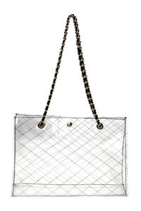 Clear Chain Handles Tote Bag