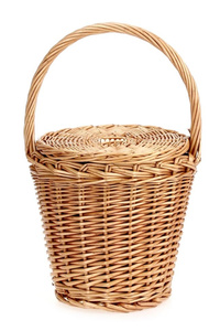 Straw Bucket Style Wicker Basket