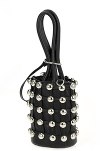 All Over Studs Bucket Style Double Handle Bag